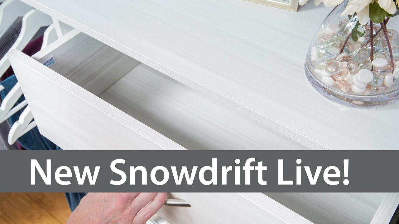 New Snowdrift Live! A modern upgrade to traditional white closet ...