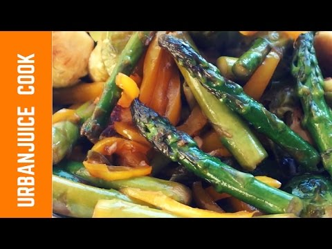Asparagus & Brussels Sprouts Stir Fry