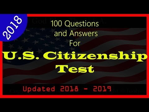 Official 100 Questions and Answers for the US Citizenship Naturalization - USCIS  Civic Test