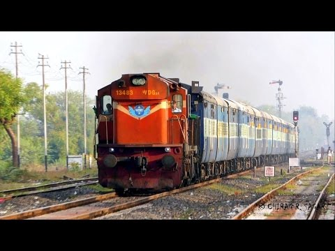 FURIOUS INDIAN FREIGHT ALCo WITH SUPERFAST PASSENGER TRAIN
