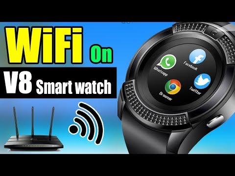 Smart Watch V8 Wifi || Smart Watch V8 Connection Hindi|| Wifi On V8 || 2019| AlirazaTV