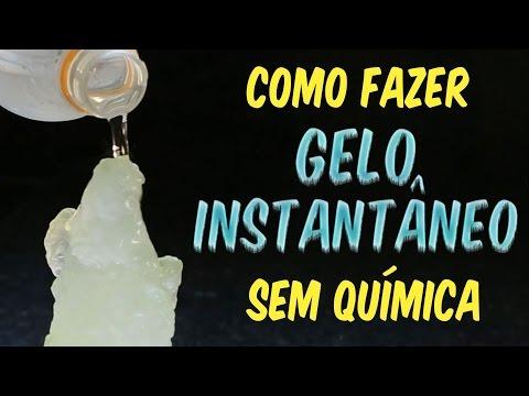 Saiba como fazer gelo instantâneo sem química