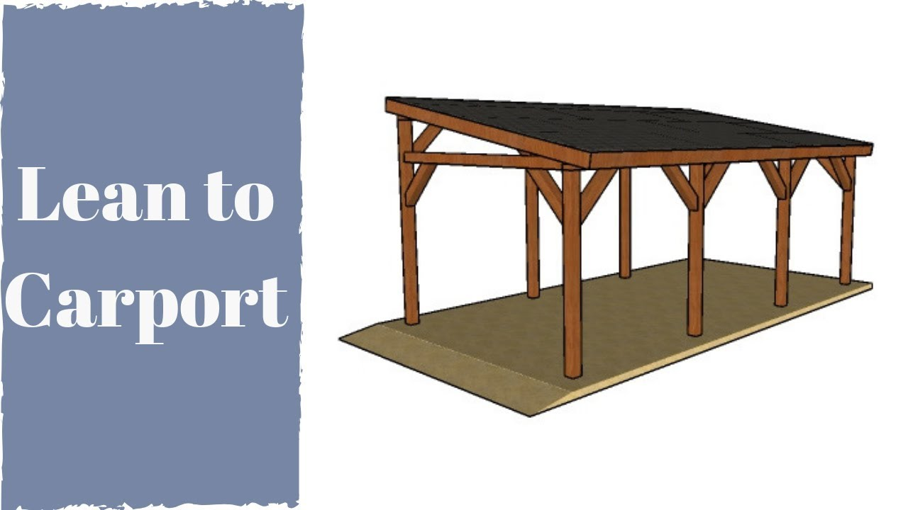 How To Build A Lean To Carport Youtube