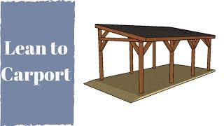 Wie man einen Lean to Carport baut