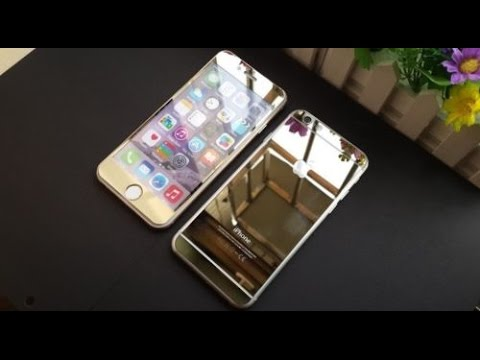 Iphone6 tempered mirror screen protector gold edition youtube - Mirror screen ...