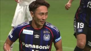 倉田 秋(G大阪)がゴール左上にPKを決め、G大阪が先制!明治安田J1...