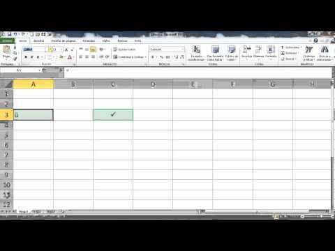Palomita o checkmark en Excel