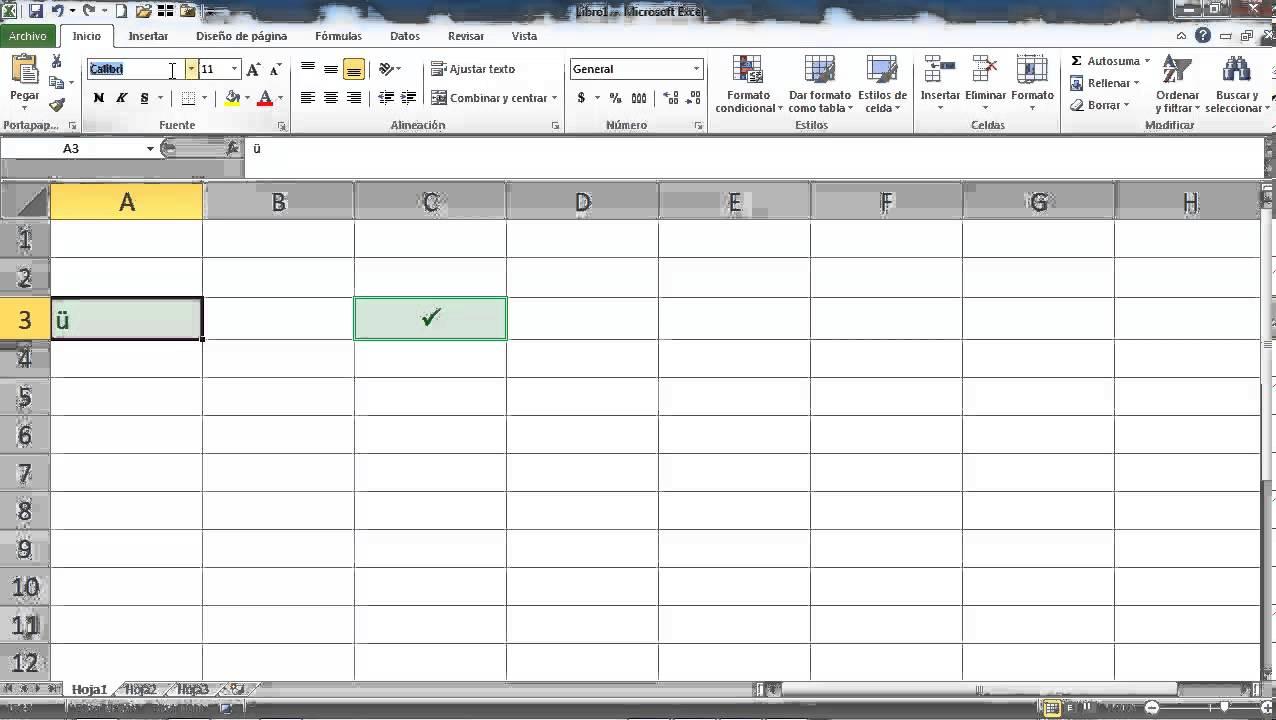 Palomita O Checkmark En Excel Youtube