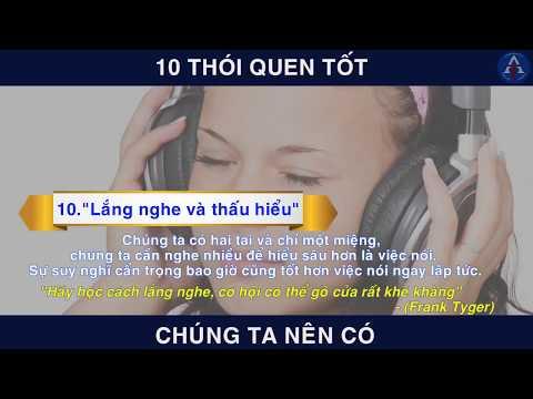 [BÀI HỌC CUỘC SỐNG] - 10 Thói Quen Tốt Để Thành Công