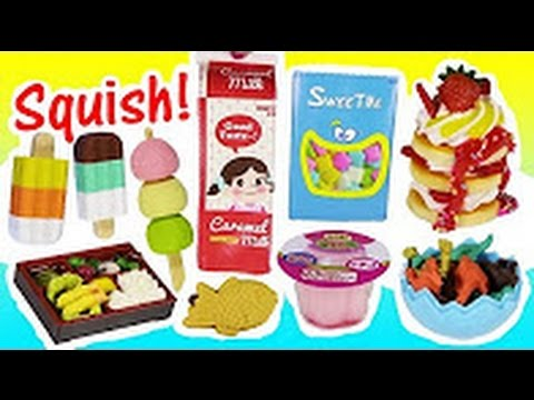 Kawaii SQUISHIES & Stationery! Squishy Pudding Keychain ! Puzzle Erasers! PENS! Disney Squish Bag!