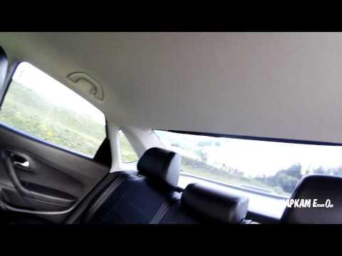 Козырек MV Tuning на заднее стекло VW Polo Sedan. Вид из салона