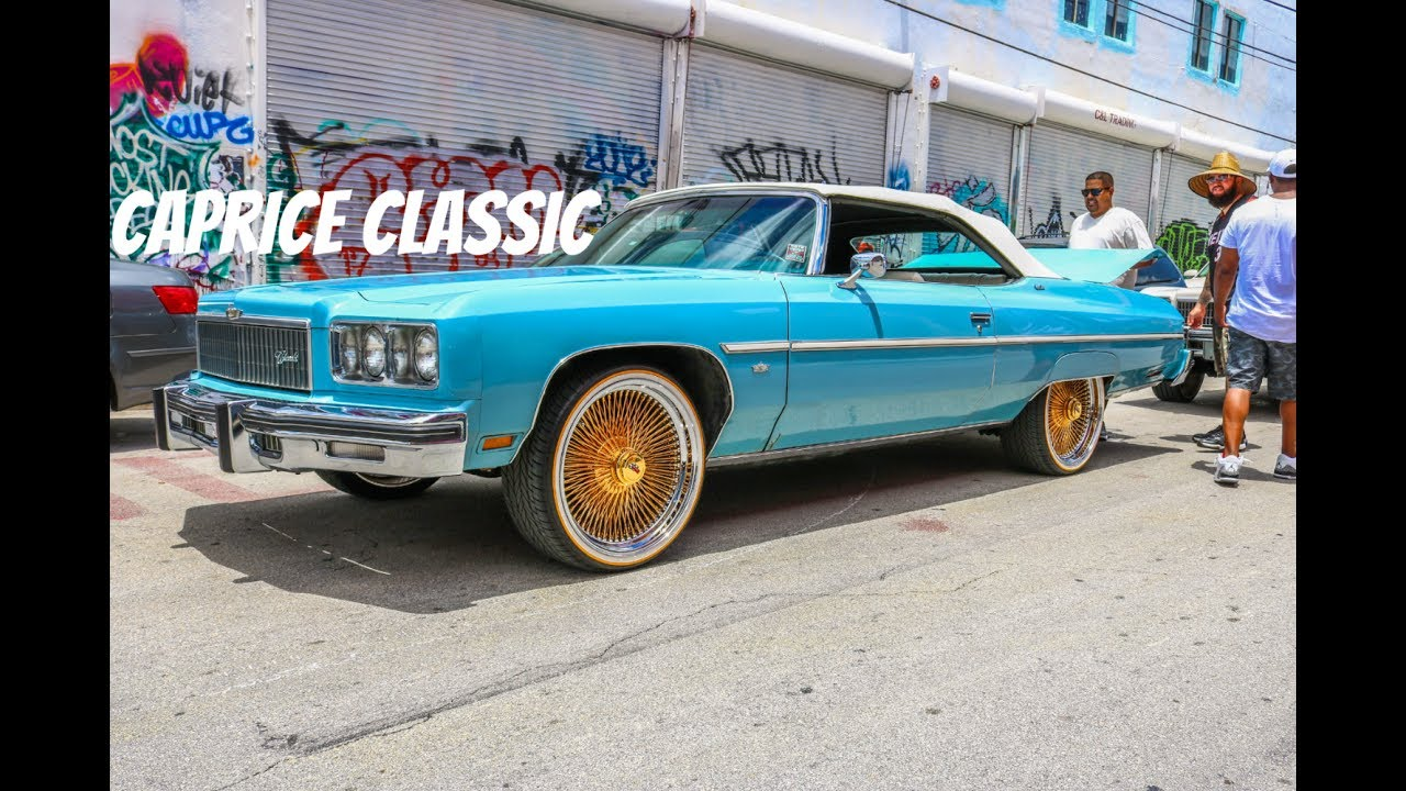 Super Clean 75 caprice classic on Gold Daytons in HD must see - YouTube