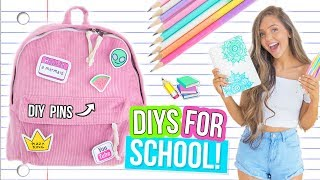 DIY BACK TO SCHOOL SUPPLIES! Notebooks, Clothing & Decor 2017!