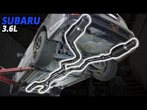 Subaru Outback 3.6 уникальная выхлопная система с двумя магистралями выпуска.
