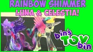My Little Pony Rainbow Shimmer Princess Luna & Celestia! Review by Bin's Toy Bin