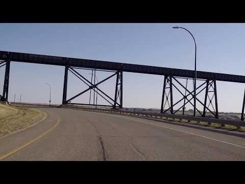 Downtown Lethbridge Alberta Canada - Driving In Town/City - Tour