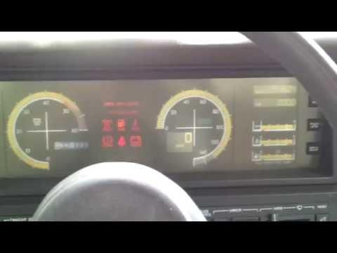 1988 Cadillac Allante Start up and dash display