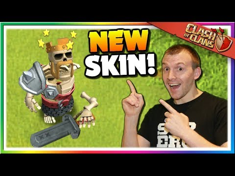 The Barbarian King Is A SKELETON! New Hero Skin Gameplay - October Season Pass | Clash Of Clans