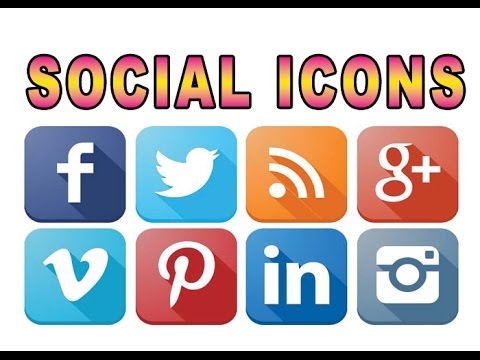 How To Add Social Media Icons To Any Website.