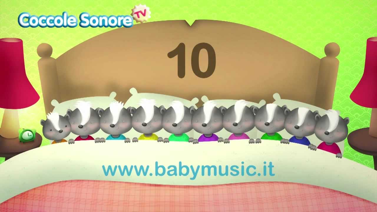 spesso Ten in the bed - Italian Songs for children by Coccole Sonore  VD26