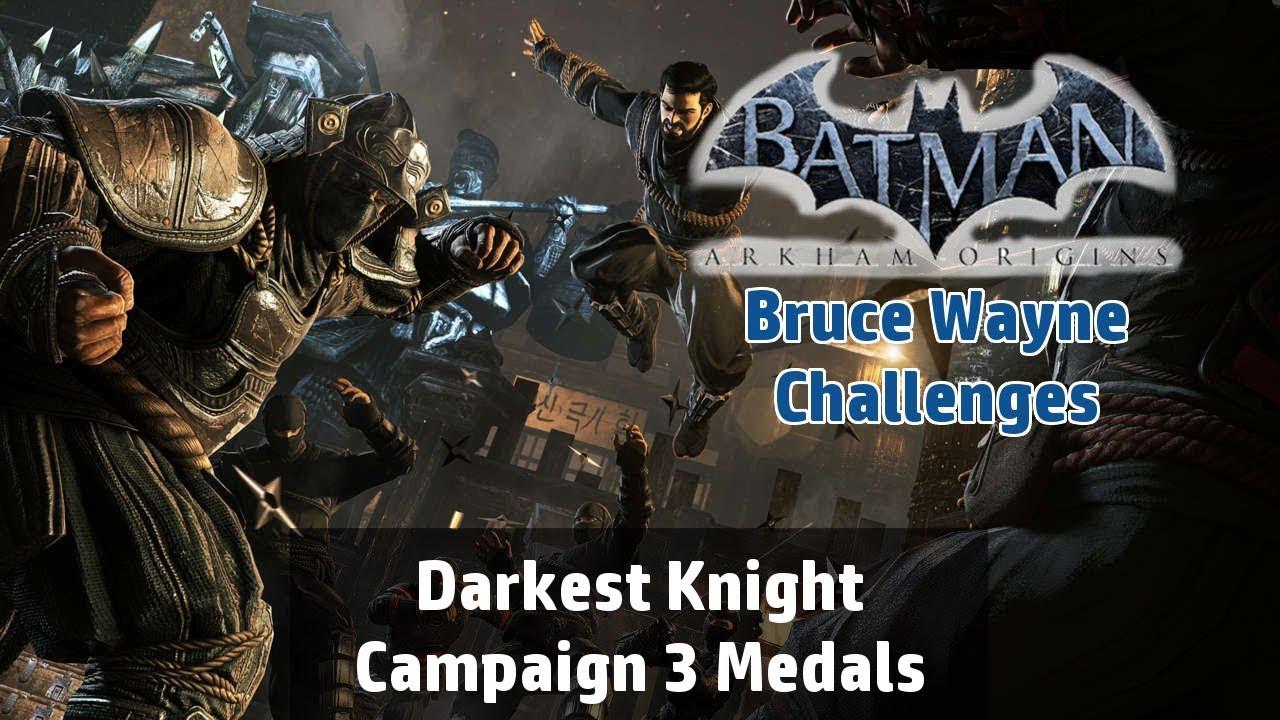 Batman arkham origins darkest night campaign challenge bruce batman arkham origins darkest night campaign challenge bruce wayne 3 medals voltagebd Choice Image