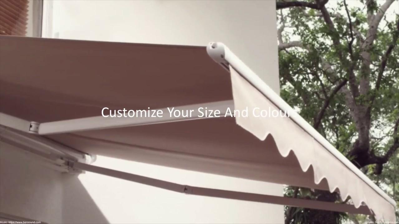 Custom Retractable Awnings Calgary - YouTube