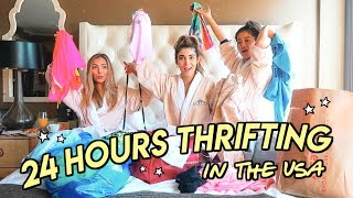 THRIFT WITH US IN THE U.S.A. ✰ insane 24 hour thrift trip & haul !