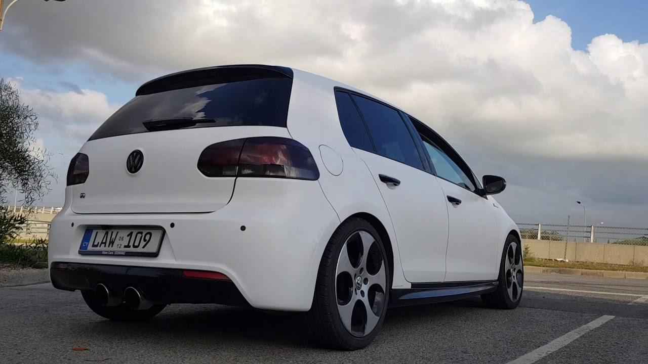VW Golf White Matte wrap cyprus