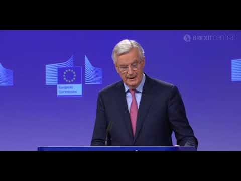 Barnier on EU's first draft of the withdrawal deal