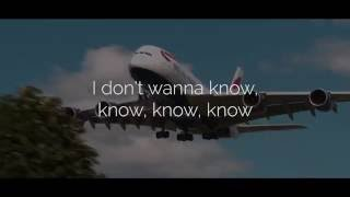 Maroon 5 Ft. Kendrick Lamar Don't Wanna Know Lyric Video Official Audio