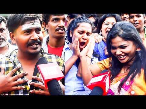 """Mersal is vera level""-Thala fan  Vijay  Public review  Udhayam theatre   DC 105"