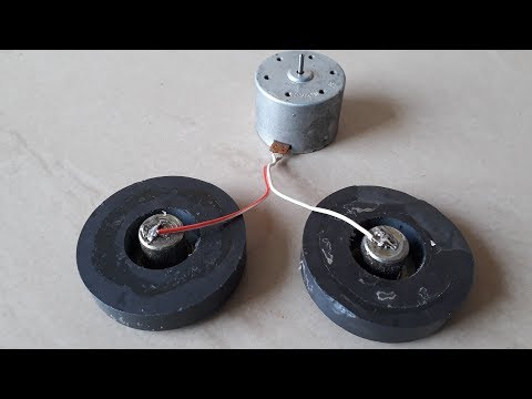 Free Energy Device in Two Magnets