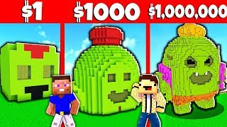 СПАЙК ИЗ БРАВЛ СТАРС ПОСТРОЙКА В МАЙНКРАФТЕ ЗА 1$ vs ЗА 10000$ Битва Построек Brawl Stars Minecraft
