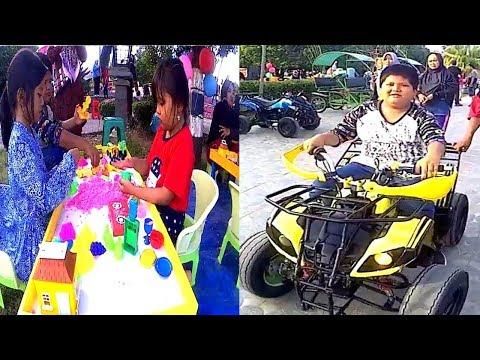 Main Pasir di taman kota  Baturaja Berhadiah Balon #Bag2