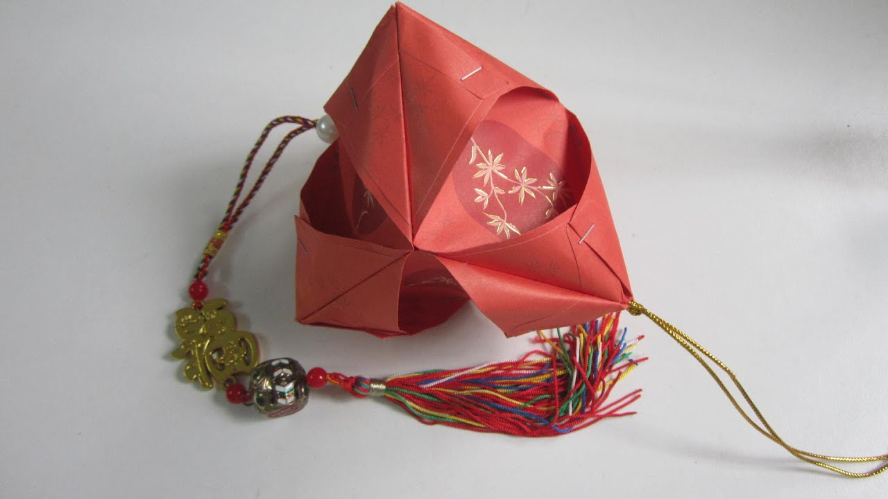 Cny tutorial no 40 very simple 6 unit hongbao lantern for Ang pow decoration