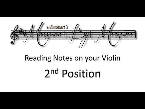 Notes On Violin (2nd Position)