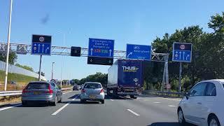 Dashcam  Amersfoort: Stichtse Rotonde 》A28 Toerit Maarn》Afrit Amersfoort 》Energieweg》Hoevelaken.