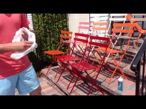 Fermob French Bistro Chairs Care Maintenance With Chad