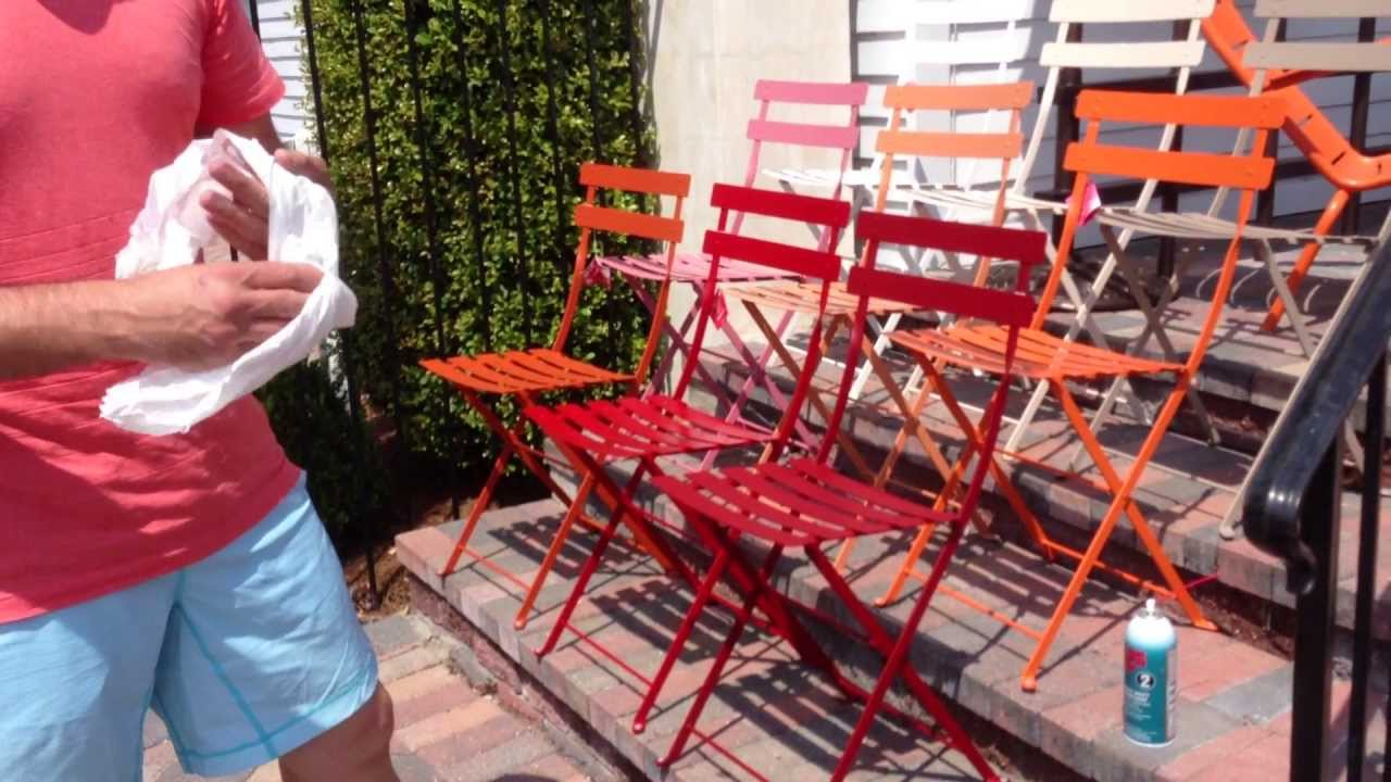 Outdoor French Bistro Chairs Fermob French Bistro Chairs Care Maintenance With Chad Harris