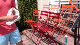 Fermob French Bistro Chairs Care & Maintenance With Chad Harris