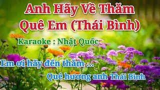 Karaoke Mời Em Về Thăm Quê Anh - Thái Bình - Xuân Hảo ft Nguyệt Anh