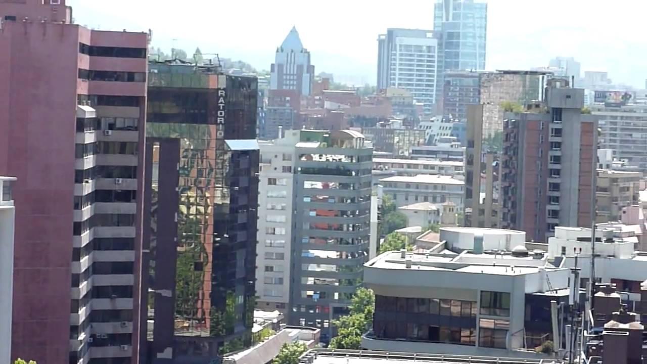 La Vista De Santiago Desde La Terraza De Mi Edificio En