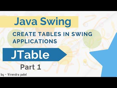 jtable-in-swing- -java- -create-window-application- -hindi