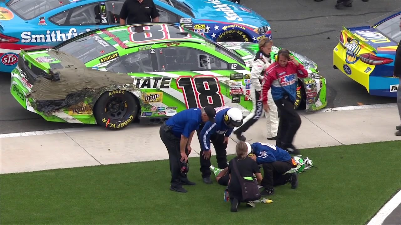 Kyle busch receives medical attention after grueling race youtube - Pictures of kyle busch s car ...