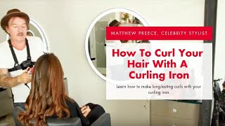 How to: Curl Hair with a Curling Iron - Loose Curls