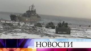 Всамой северной точке Евразии прошли учения мотострелков