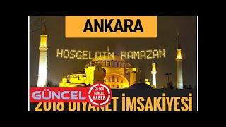 2018 İmsakiye Ankara- Sahur imsak vakti iftar ezan saatleri