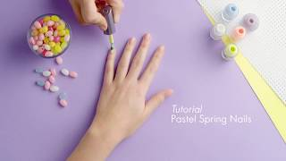 Oriflame India | Pastel Spring Nails Tutorial