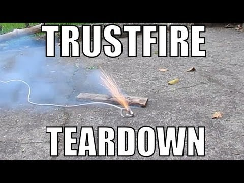 Lithium Ion battery explosion. Trustfire 18650 teardown and destruction. RCHacker #6