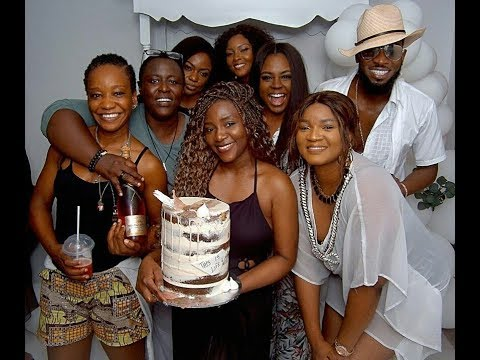 Download Dbanj Parties With Genevieve On Her 40th Birthday